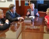 Debate. Desde la izquierda, Pais, Luenzo, Arcioni y González durante su discusión en Capital Federal.