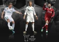 Luka Modric, Cristiano Ronaldo y Mohamed Salah son los 3 nominados al premio para el mejor jugador de la UEFA 2017/18.
