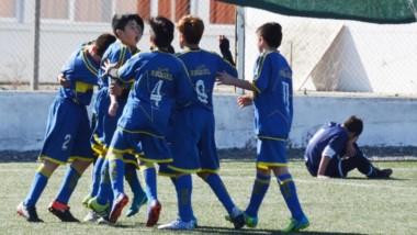 """El Sub 13 del """"Xeneize"""" cordillerano igualó 1-1 ante Guillermo Brown y aseguró el pase a la segunda fase del torneo patagónico juvenil de clubes."""