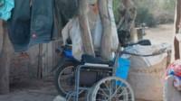 La silla de ruedas que uso el degenerado y que falleció sin recibir castigo alguno.