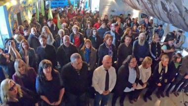 El acto conmemorativo se realizó en el Centro Cultural por la Memoria, lugar de parte de los hechos del 72.