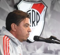 """Gallardo: """"Leí algunas críticas en los empates que conseguimos, pero yo quedé muy conforme con el rendimiento de River""""."""