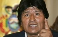"""""""Lo que hacen (los argentinos es) amedrentar. Intentarán asustarnos, no nos vamos a asustar, somos un pueblo unido"""", señaló Evo."""