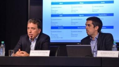 El secretario de Hacienda de la Nación, Rodrigo Pena , junto al ministro Nicolás Dujovne.