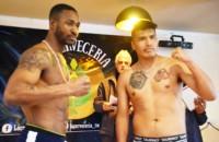 """El cubano William """"El Indomable"""" Scull (75 kg) y el salteño José """"El Indio"""" Yana irán en la pelea de fondo hoy."""