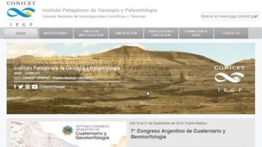 Útil. El nuevo sitio web está dedicado a las Ciencias de la Tierra, y especialmente al área patagónica.