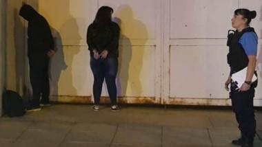 La pareja que fuera detenida el fin de semana no posee antecedentes.