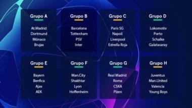 Este es el resultado del sorteo de grupos de la Champions League 2018/2019.