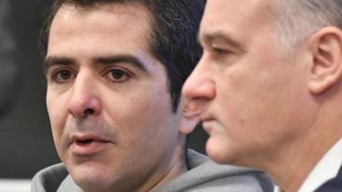 Habló. Lüters (izquierda) en una pausa de su declaración, junto su defensor Lisandro Benítez.