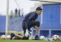 Esteban Andrada tuvo hoy su segunda práctica junto al plantel.