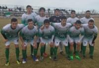 La juvenil formación de Dolavon que venció a Moreno 1-0 de local.