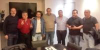 Justicialistas. Osorio, tercero desde la izquierda, reivindicó el freno al recorte de las asignaciones.