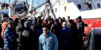 Recorrida. La dirigencia del SOMU tambié chequeó que en Puerto Madryn las medidas se cumplan.