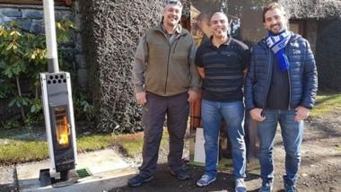 Los emprendedores chubutenses ganadores, Guillermo González, Gustavo Díaz y Gonzalo Romano.