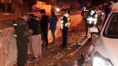 Policías de Trelew y gendarmes en pleno control preventivo rutero.