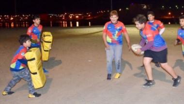 Los Maras jugando en el predio de la Laguna Chiquichano. Ahora podrán participar en torneos de la URVCh.