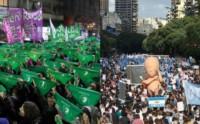 Un país dividido en verde y celeste. Se espera una multitud de personas para la trascendental votación.