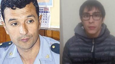 El jefe de la Policía Miguel Gómez fue el que lo identificó en plena calle. Franco Fuentes fue detenido anteayer. Tiene dos pedidos de captura.