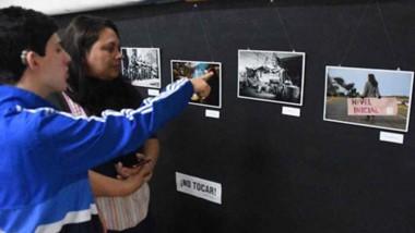 Imágenes.  La muestra simboliza los más de 100 días de lucha que se dieron en la provincia del Chubut.