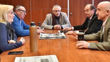 Entre mates. Los funcionarios de Economía se reunieron con los diputados de Chubut Somos Todos.