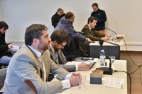 Eguillor y su abogado Federico Ruffa durante la audiencia