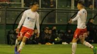 Andres Chávez marca su quinto gol en Huracán en 13 partidos en el club.