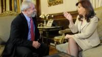 Cristina Kirchner repudió la impugnación de la candidatura de Lula en Brasil .