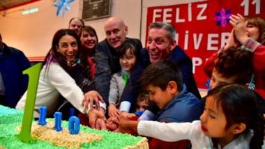 Parte de los festejos en el marco de un nuevo aniversario de la localidad de Epuyén.