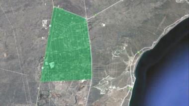 El mapa muestra el área de interrupción en el servicio de agua potable que afectará a la zona de El Doradillo.