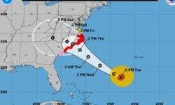 Todo indica que será el huracán más potente que toca tierra tan al norte en la Costa Este de EEUU. Solo 4 huracanes categoría 4 han tocado tierra al norte de Florida en toda la historia,