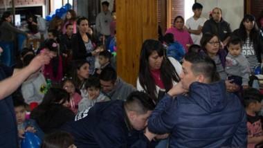 """El Campus Trelew lució repleto en el  evento del """"Día del Niño"""" de USPRA."""