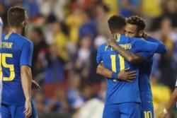 Brasil festejó un triunfo rotundo en el FedEx Field en Landover, Maryland.