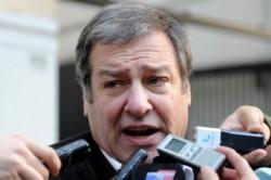 Mario Calegari, el vocero del gremio de los choferes de microómnibus.