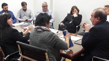 Retoque. Ayer el subsecretario Tarrío se reunió con los diputados para ultimar los detalles del proyecto.