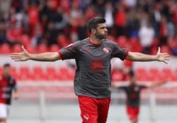 Emmanuel Gigliotti, uno de los goleadores de la Superliga, intentará guiar a Independiente a una nueva victoria.