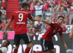 El colombiano James Rodríguez reapareció con gol en el Bayern Munich.
