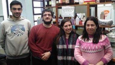 El equipo de investigación: Gabriel de Diego, Juan Pablo Ferro, Ayelén González Nuñez y la Dra. Bettina Eissa.