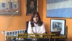 Imagen del video que difundió la senadora.