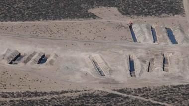 Ya no. Una postal aérea de los cuencos que ya no podrán usarse en la ciudad del Golfo para los residuos.