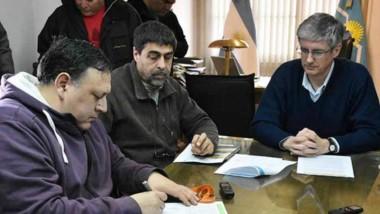 La firma se realizó en el despacho del intendente Ongarato.