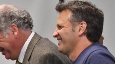 Sonrisas. Gabalachis (izquierda) el defensor de Pablo Bastida, que consiguió varias salidas programadas.