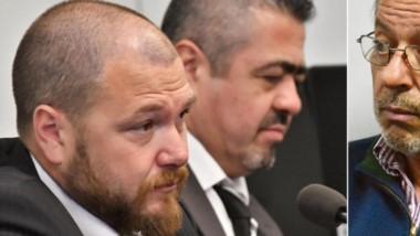 Enfrentados. Nápoli e Iturrioz (izquierda) los fiscales denunciados por Jorge Valiña (derecha) en el Consejo.