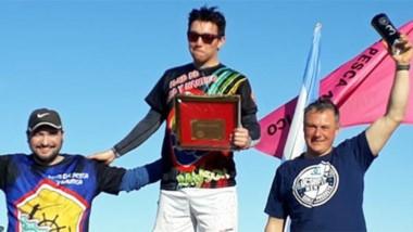 El podio de la categoría Elite. Primero Agustín Valiña, segundo Leonardo Vega y tercero Daniel Kovacs.