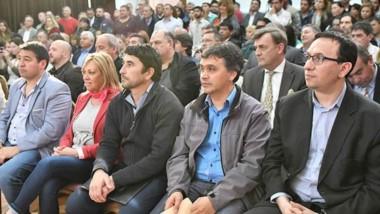 Arcioni se refirió al encuentro después del acto de asunción de los nuevos integrantes del gabinete.