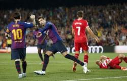 Barcelona tropezó con el Girona. Lenglet fue expulsado en el primer tiempo y cambió el partido.