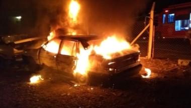 El vehículo incendiado se encontraba en el Centro de Formación 651.
