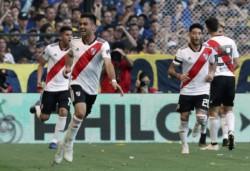 El autor del primer gol tuvo que salir en el Superclásico por un dolor en el isquiotibial izquierdo.