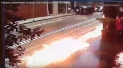 El episodio se produjo cerca de las 16:30, cuando desconocidos tiraron las bombas en el edificio de la Mutual de Suboficiales de esa fuerza, ubicado en Tacuarí 566.