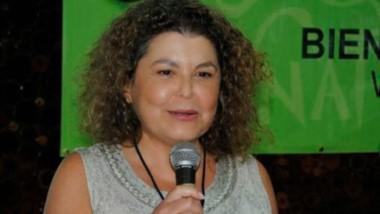 La disertante Ana Báez ,de Costa rica, es bióloga y museóloga.