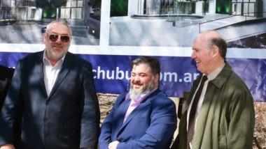 Cúpula. Los popes del Banco presentaron los nuevos proyectos para dos sucursales y confirmaron la inauguración de una tercera en el interior.